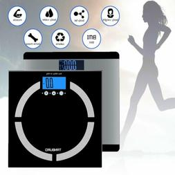 180kg Digital Body Fat Analyser Scales BMI Colorie Muscle We