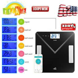400lbs Bluetooth LCD Digital Smart Scale Body Weight Fat BMI