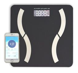 Bluetooth Body Fat Bathroom Scale with Tempered Glass Platfo