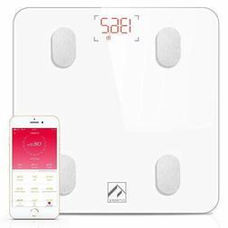 Bluetooth Body Fat Scale, FITINDEX Smart Wireless Digital Ba
