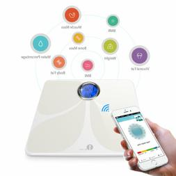 Bluetooth Body Fat Weight Scale 400 lb Electronic Smart Fitn
