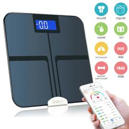 Bluetooth Body Fat Weight Scale 400 lb Electronic LCD Fitnes