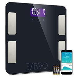 Cozzine Bluetooth Body Fat Scale, Smart BMI Scale Digital Ba