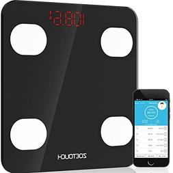 Bluetooth Body Fat Scale, ZOETOUCH Smart Digital Bathroom We