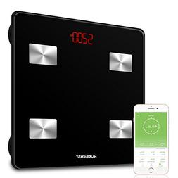 RUKERWAY Bluetooth Fat Scale,Rechargeable Bathroom Scale F