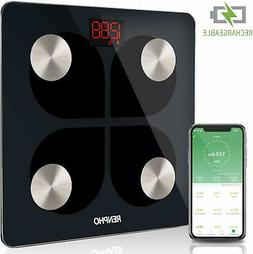 RENPHO Bluetooth Rechargeable Smart Scale Digital Weight and