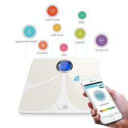 Digital Bluetooth Smart Body Weight Scale BMI Body Fat for i