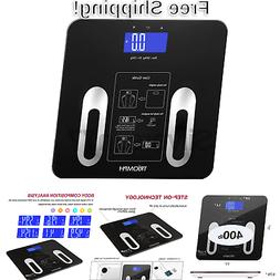 Triomph Digital BMI Body Fat Scale with Step-On Technology,