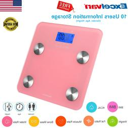 Excelvan Body Fat Scale Bone Water KCAL Measuring Hydration