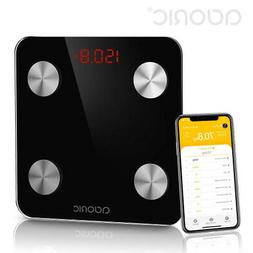 Body Fat Scales Bluetooth, Adoric Smart Digital Scale with A