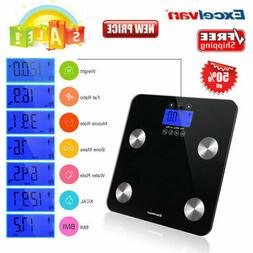 EXCELVAN Body Weight Fat Scale With LCD Display 10 Users Inf