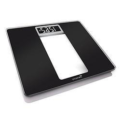 Detecto D121 Wide Body Glass Truwhite Lcd Digital Scale, Bla