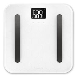Designer Glass Body Composition White Bathroom Scale from Gr