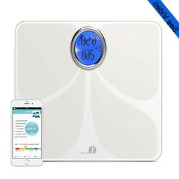 1byone Digital Bathroom Body Fat Scale LCD Tempered Glass BM