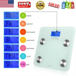 Digital LCD Body Fat Scale Weight Muscle Bone Water BMI Smar