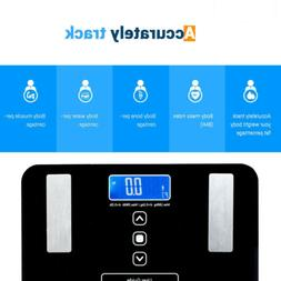 LEADZM Digital LCD Weight Body Scale Fat BMI Tempered Glass