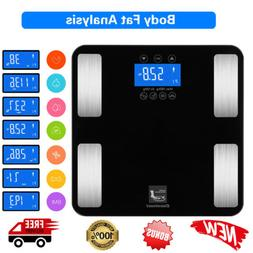 digital smart body fat weight scale lcd