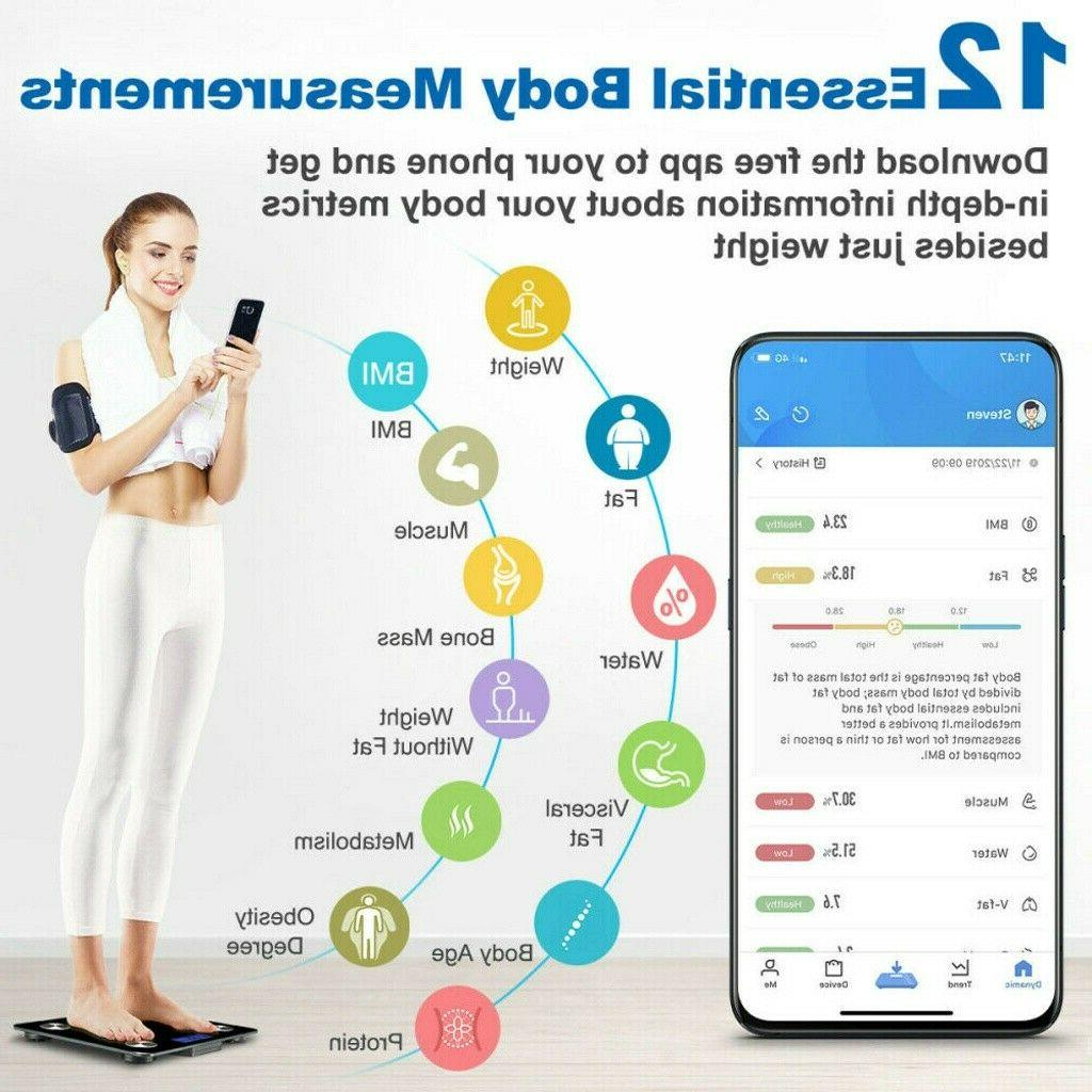 180KG Scale Weight Scales Body Fitness BMI Bluetooth