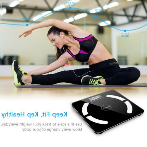 396lb Bluetooth Weight LCD Fitness Smart Analyzer APP Battery