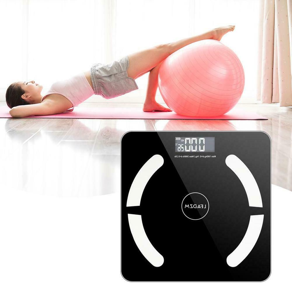 180kg/400lbs Bluetooth Bathroom Scale Body Fat Weight Scales