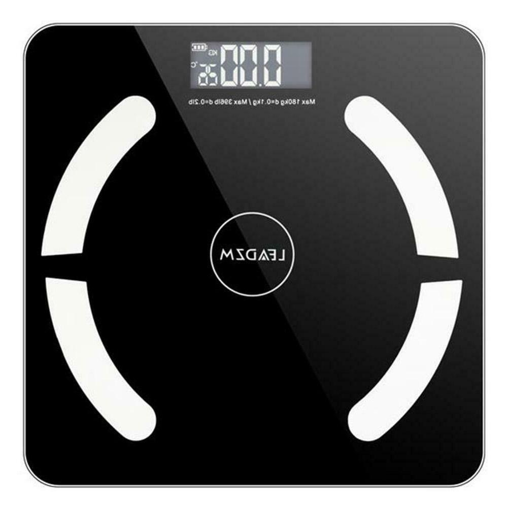Practical Home Black Bluetooth Smart Digital Weighing Scale