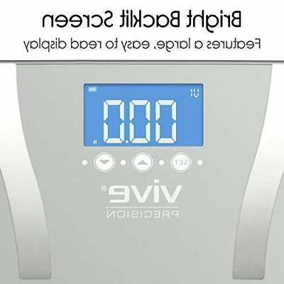 400lb LCD Bathroom Smart Fat Weight Scale Health Fitness