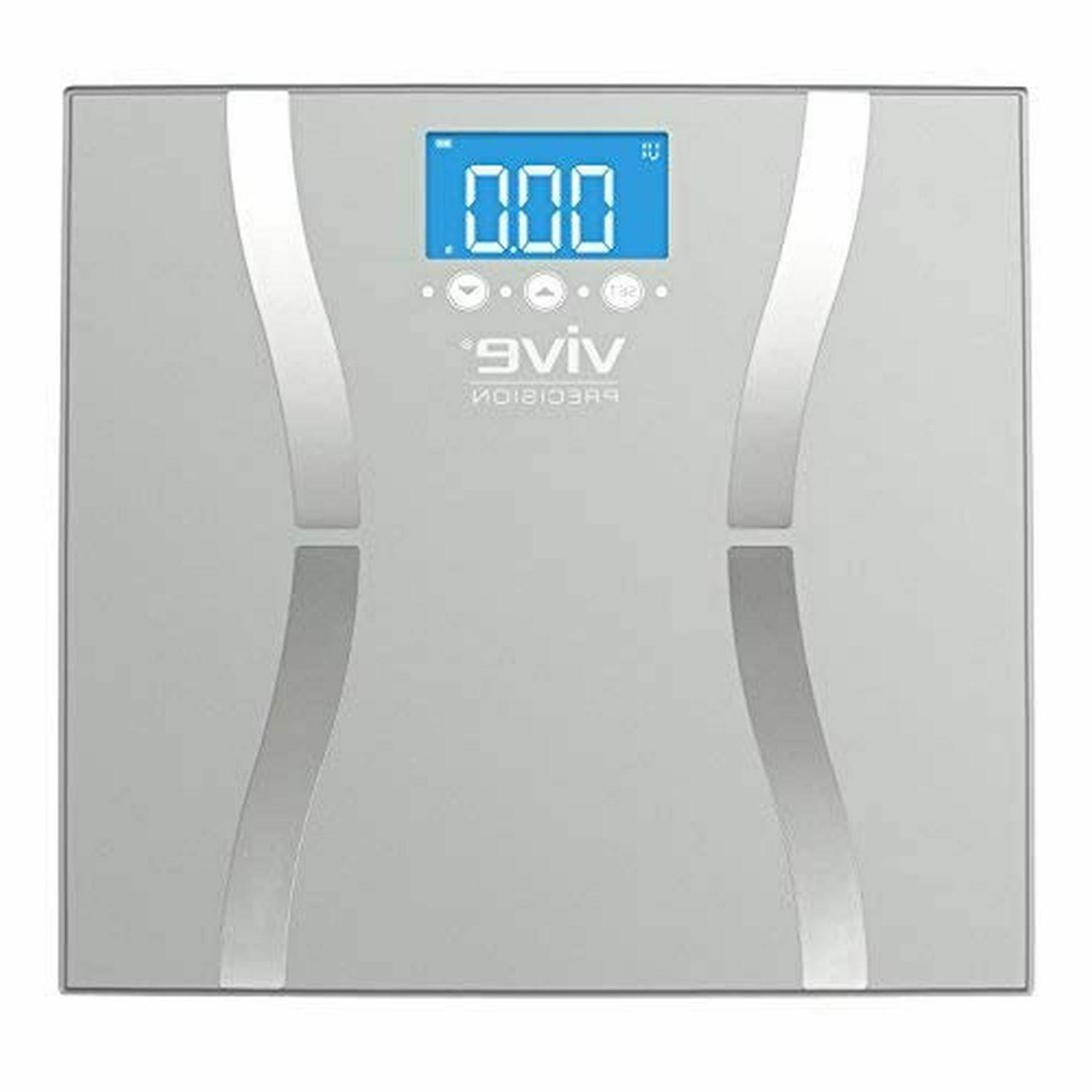 400lb Digital Body Scale Tempered Glass High Load Capacity