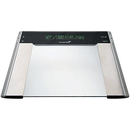 Detecto D22802P0US Glass LCD Digital 6-in-1 Body Fat Scale w