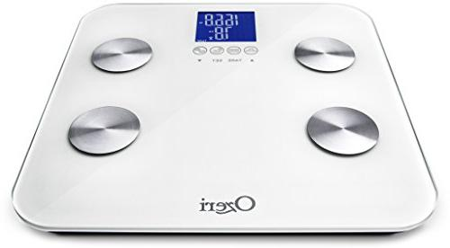 Ozeri Total Bath – Measures Muscle, Bone & Hydration with Auto Recognition and Infant Technology