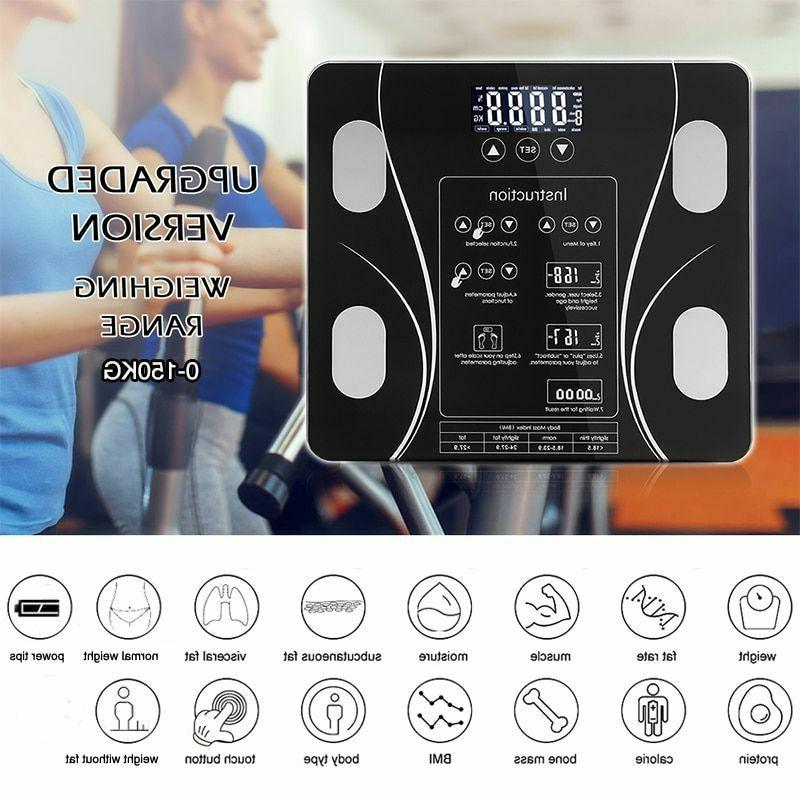 Bathroom Body Fat BMI Led Touch Button Muscle