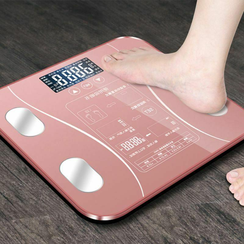 Bathroom Body Scale BMI Electronic Led Touch Muscle