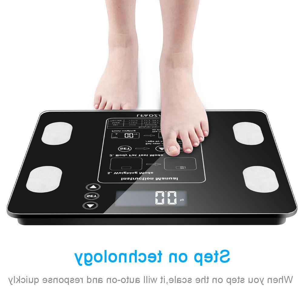 led display digital body fat weight scale