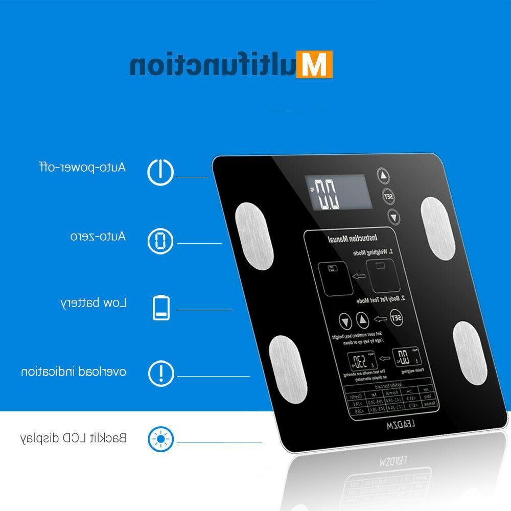 LED Display Digital Fat Weight Scale Analyser BMI 400Lb/0