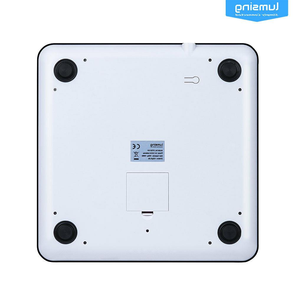 Lumsing 400lb LCD Bathroom Weight Tempered Glass +Batteries