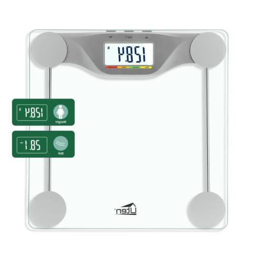 180kg/396lb Bathroom Geometric Digital Body Fat Weight Scale