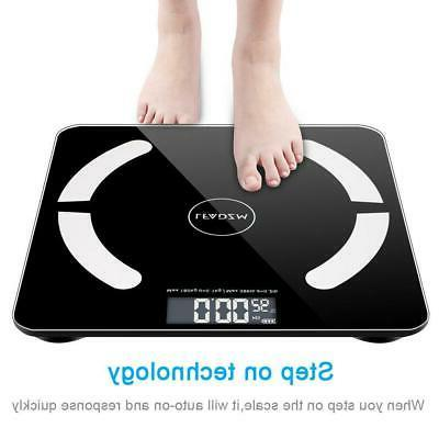 Bluetooth LCD Smart Scale Body Weight BMI Bone +Battery