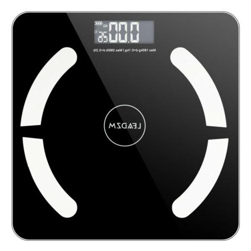 396lb Bluetooth Body Fat Weight Scale LCD Smart Battery