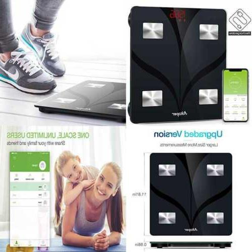 Bluetooth Body Fat Scale By USB Rechargeable Smart Digital B