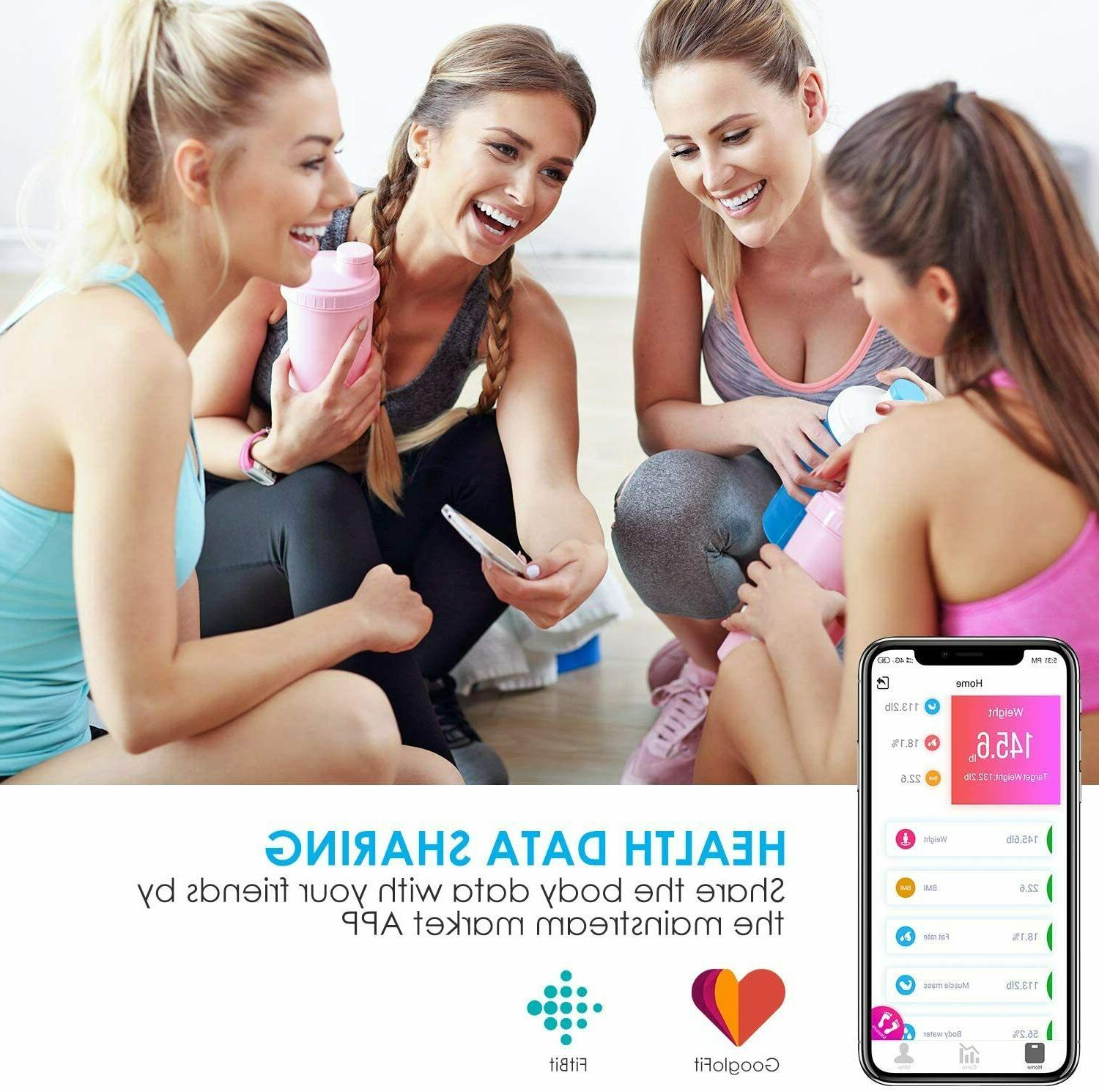 Aicok Bluetooth Body Fat Scale LED Weight Scale Smart App