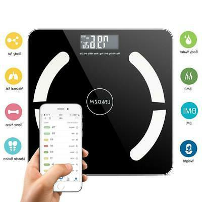 bluetooth lcd digital smart scale body weight