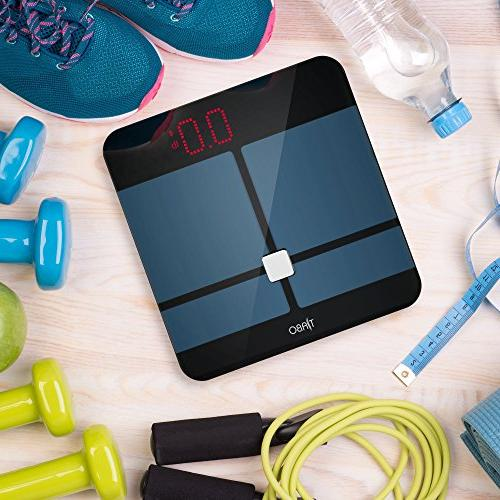 Bluetooth BMI App iOS and Android Digital Measures Body Water, Muscle Fat, BMR & Visceral - by Tiabo