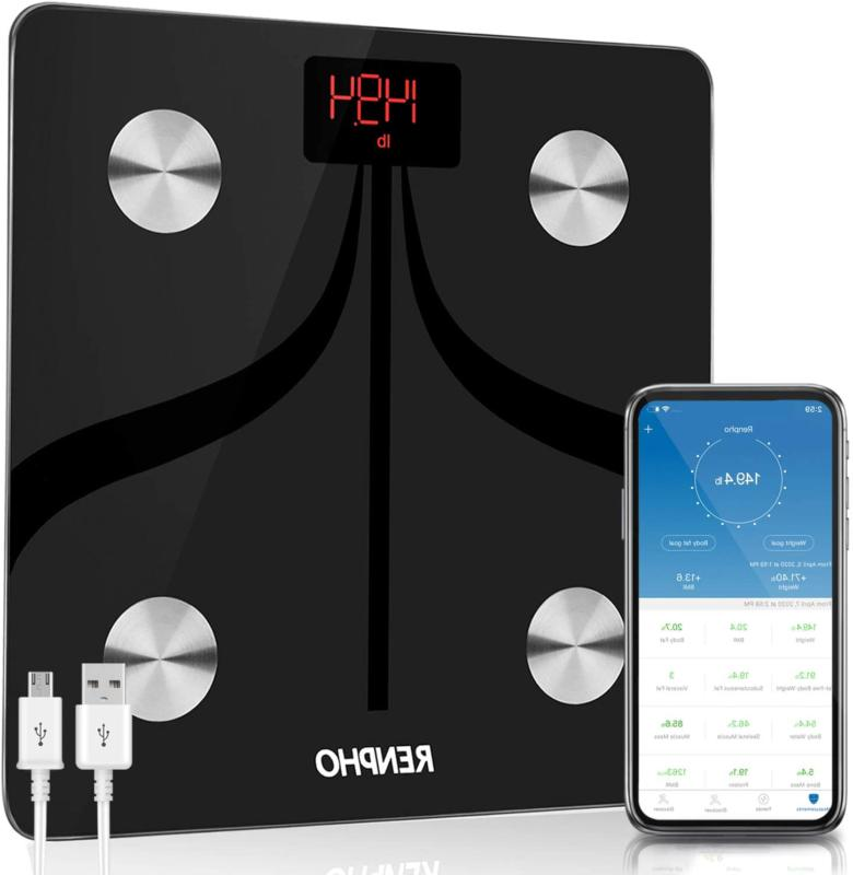 bluetooth fat scale usb rechargeable