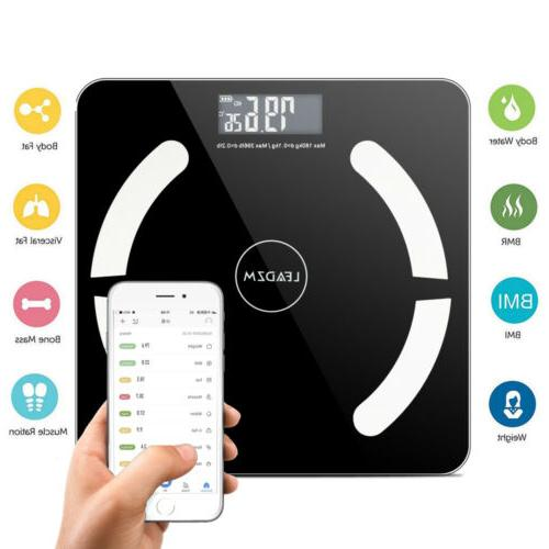 Bluetooth Digital Scale LCD Fat Weight Muscel Scales 180kg/396lbs
