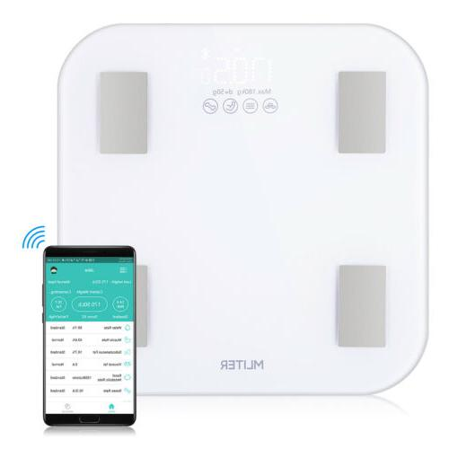 Bluetooth Scale Digital Support 11Body Weight BMI US