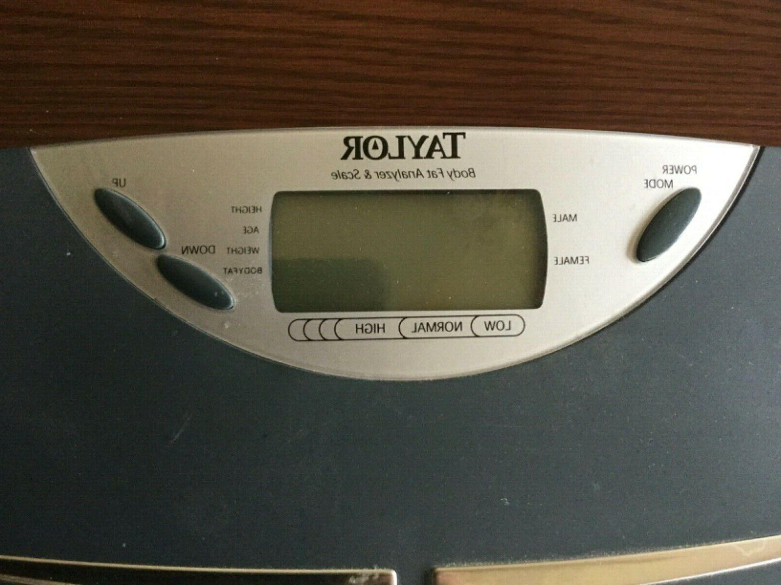 Taylor Body Fat and Scale Black 5555