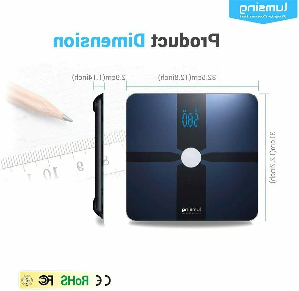 Lumsing Body Weight Scale Bathroom w/Fitness App