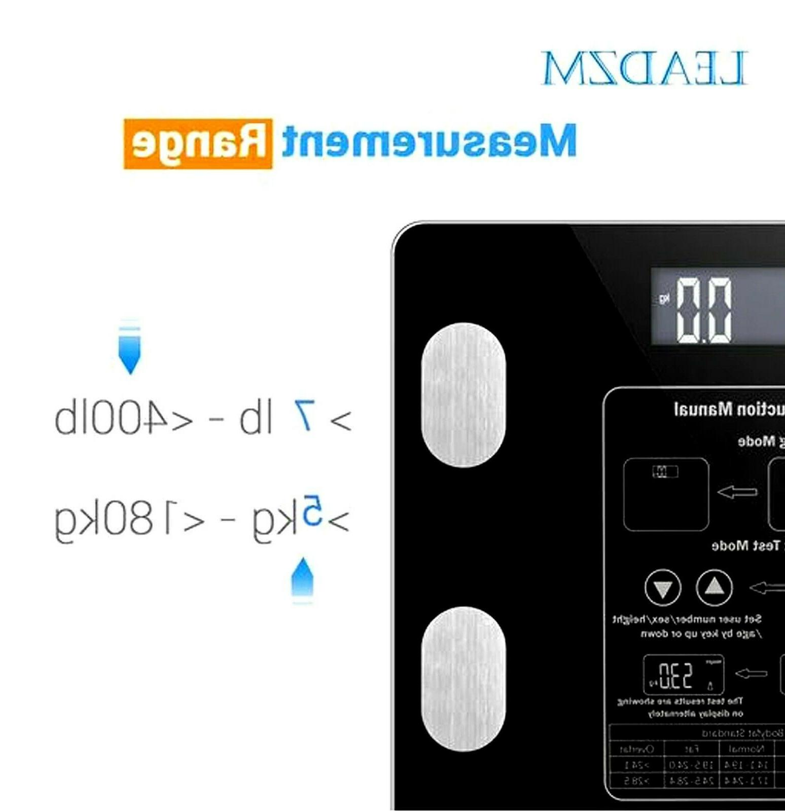 Leadzm Scale Water Muscle Calorie Weight 12Users