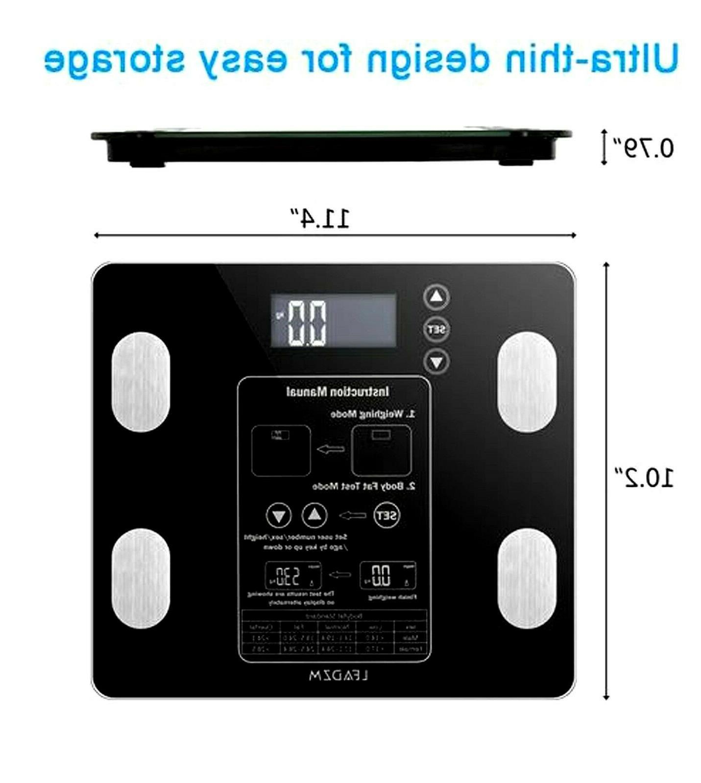 Leadzm Digital Scale BMI Muscle Calorie 12Users