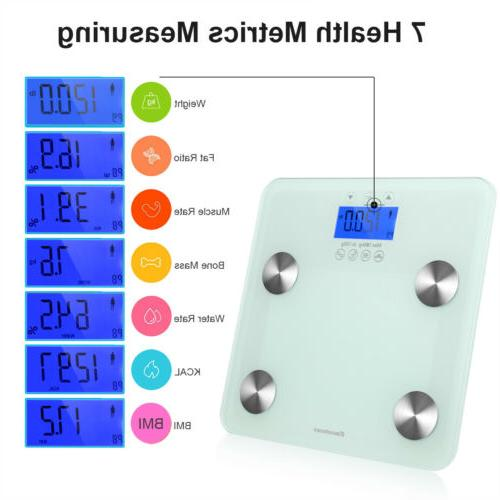 bluetooth body fat scale water composition analyzer