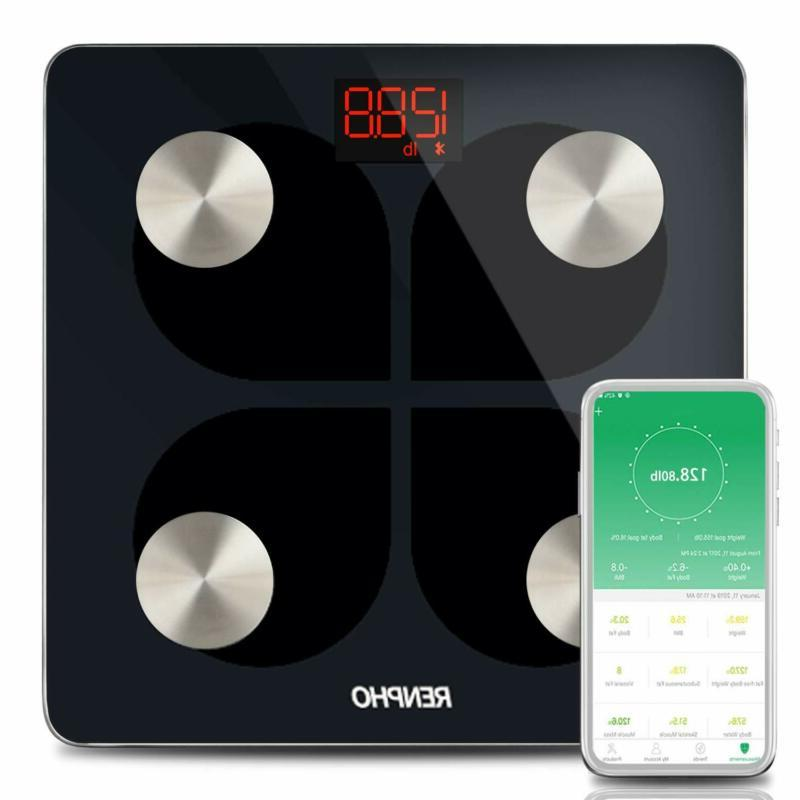 RENPHO Digital Smart Bluetooth Scale USB Rechargeable Bathro